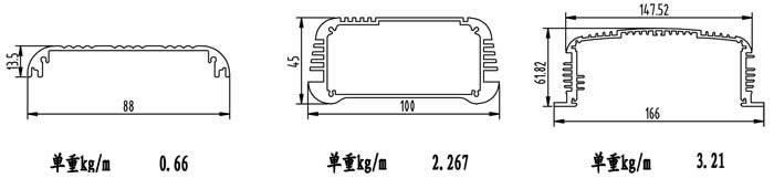 首页 亮银产品中心 铝合金电源外壳,控制外壳铝材 电源挤压铝型材